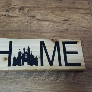 Disney Inspired Home Magic Castle Wood Sign